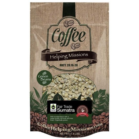 Green Beans 1.5lb Bag: Sumatra Fair Trade Origin