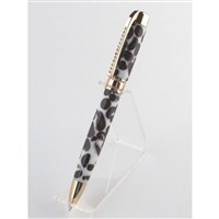 Crystal Gold Ball Point with Coffee and Cream Acrylic - Crystal Gold Ball Point with Coffee and Cream Acr